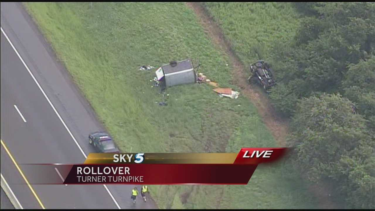 A rollover accident has been reported on Turner Turnpike.