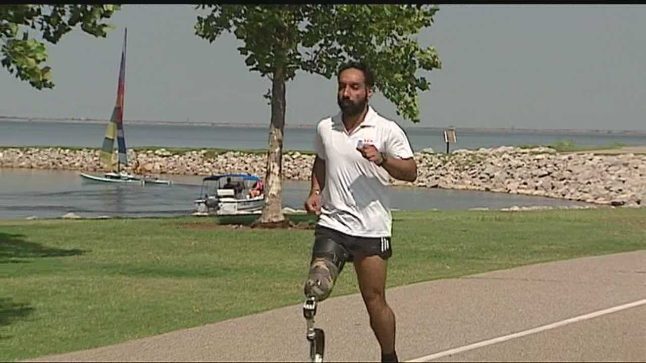 An athlete is looking for new hope in Oklahoma City. The disabled veteran has traveled thousands of miles seeking something in the Sooner State. Maj. Devender Pal Singh's determination to live independently is impressive.
