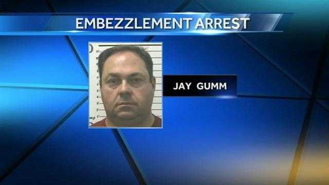 A former state senator from southern Oklahoma was arrested after investigators say he embezzled more than $24,000 while working in Mississippi.