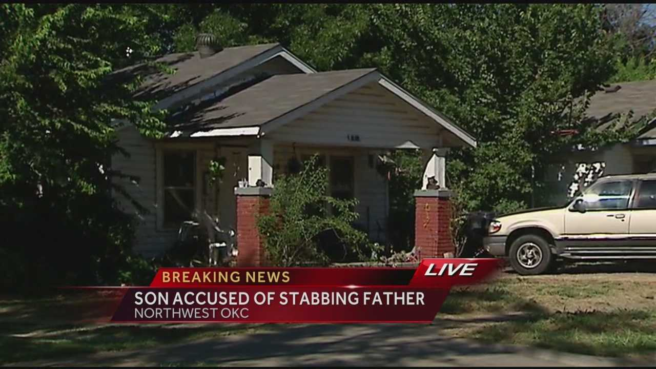 img-Son sought in father s stabbing Oklahoma City police say 5P H
