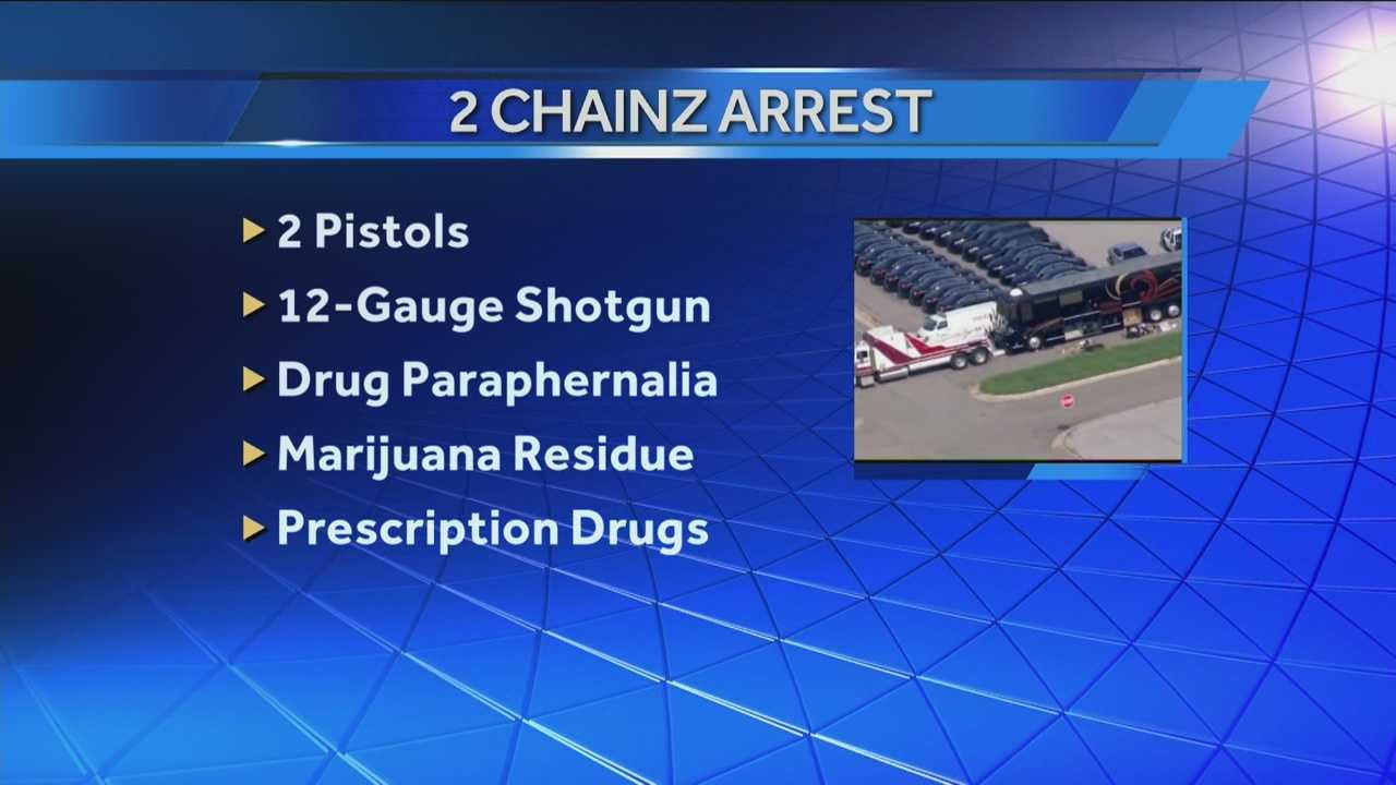 img-Drugs guns found on 2 Chainz s bus 5P H