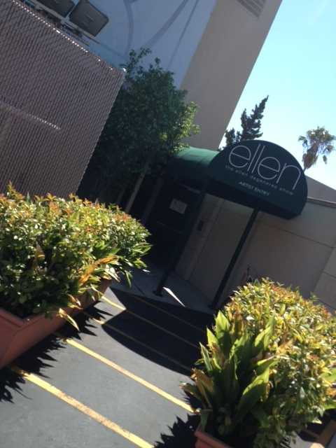 This is where the stars enter for the Ellen Show.