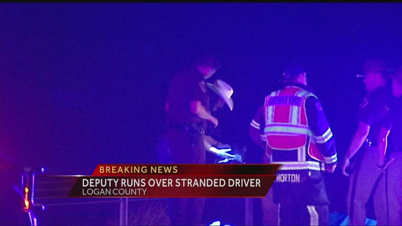Motorist walking on highway killed when struck by highway patrol vehicle