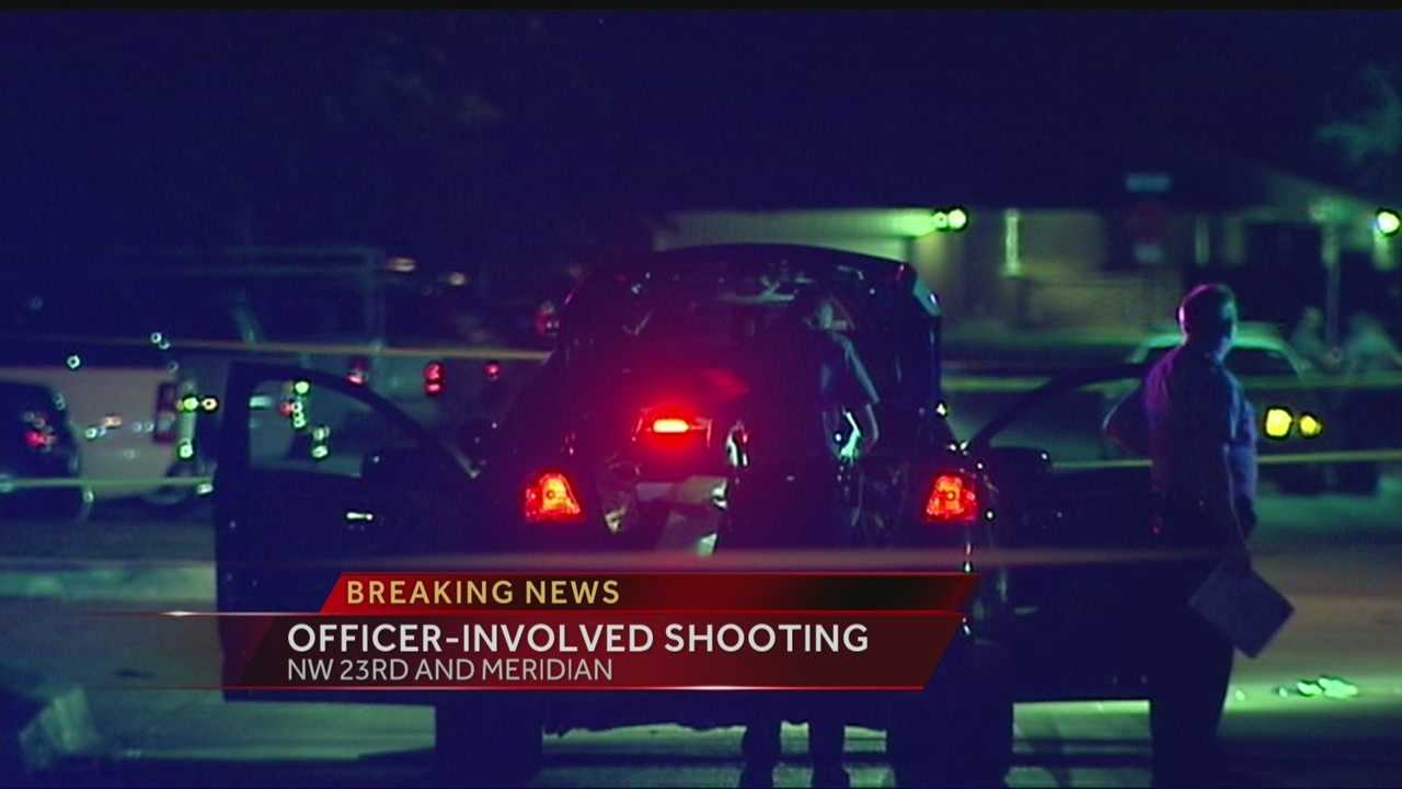 Oklahoma City- A suspected car thief found himself in critical condition after being shot by an Oklahoma City police officer. Officials say the incident happened on NW 25th and Sterling early Sunday morning. Investigators say the suspect pulled out a pistol, shot himself, and then pointed the gun at the officer. The officer fired at the man. The suspect was taken to the hospital in critical condition on Sunday morning, but is expected to survive.