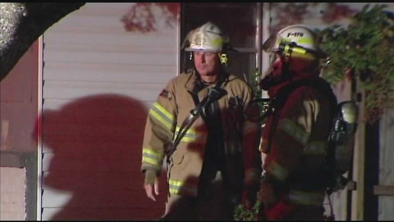 Crews douse fire at home