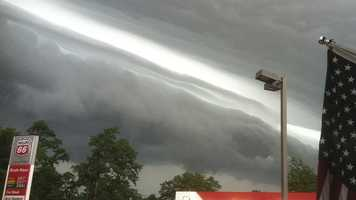 Derecho: a line of intense, widespread, and fast-moving windstorms and sometimes thunderstorms that moves across a great distance and is characterized by damaging winds.