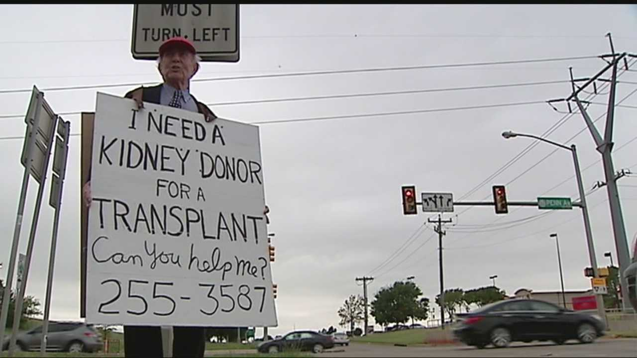 Robert Dean spent his 84th birthday on a street corner asking for the gift of life.