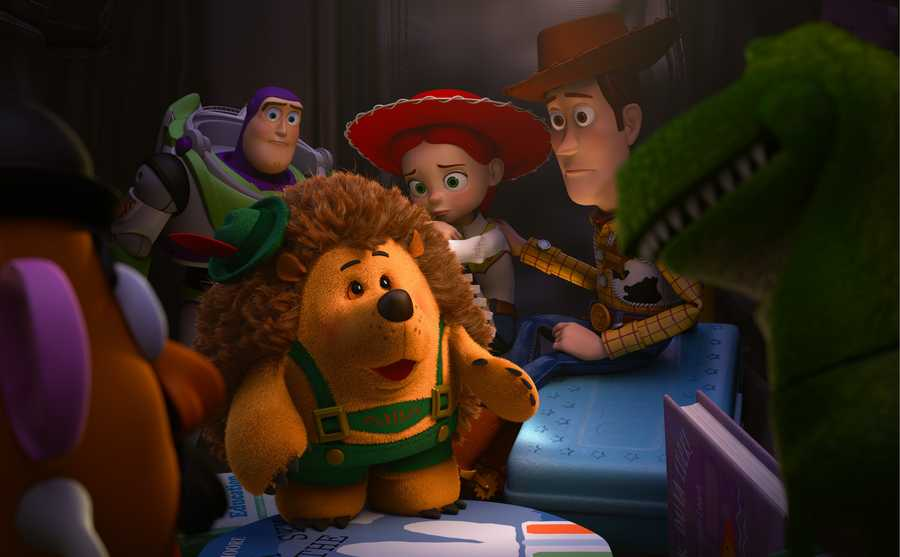 """The Lighting department is responsible for integrating all of the elements - characters, sets, cloth and hair, shading - into a final image. The lighting is achieved in the computer by placing virtual light sources into the shot to illuminate the characters and the set. In a scene, many dozens of lights are often required. Disney/Pixar's first special for television, """"Toy Story OF TERROR!,"""" a spooky new tale featuring all of your favorite characters from the """"Toy Story"""""""