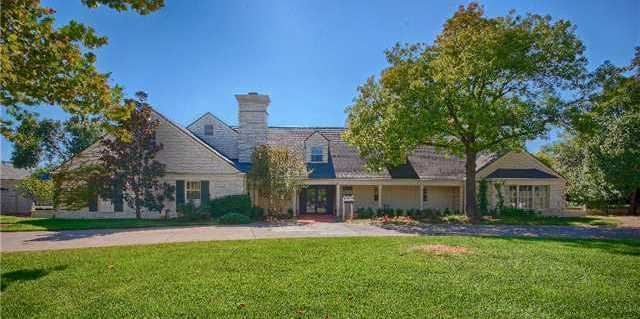This mansion in Nichols Hills has six bedrooms and 10 baths!  It's spread over more than 9,200 square feet of living space.  Take a peek at the rest of the pictures.  For more information on this property, click here.