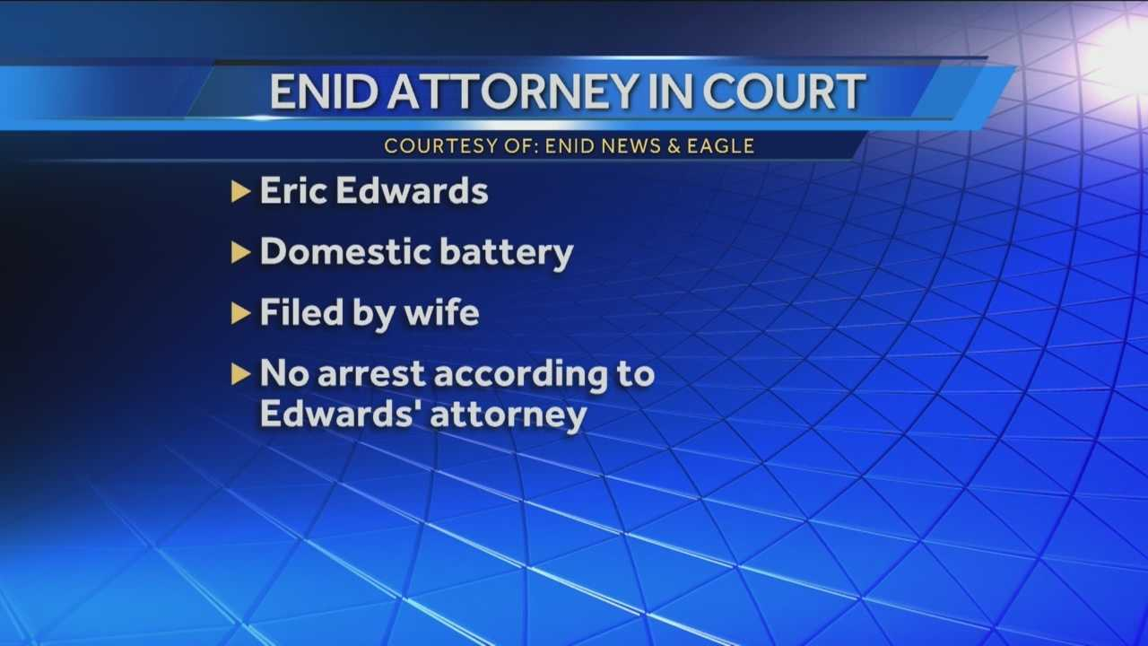 Enid Attorney faces domestic battery complaints