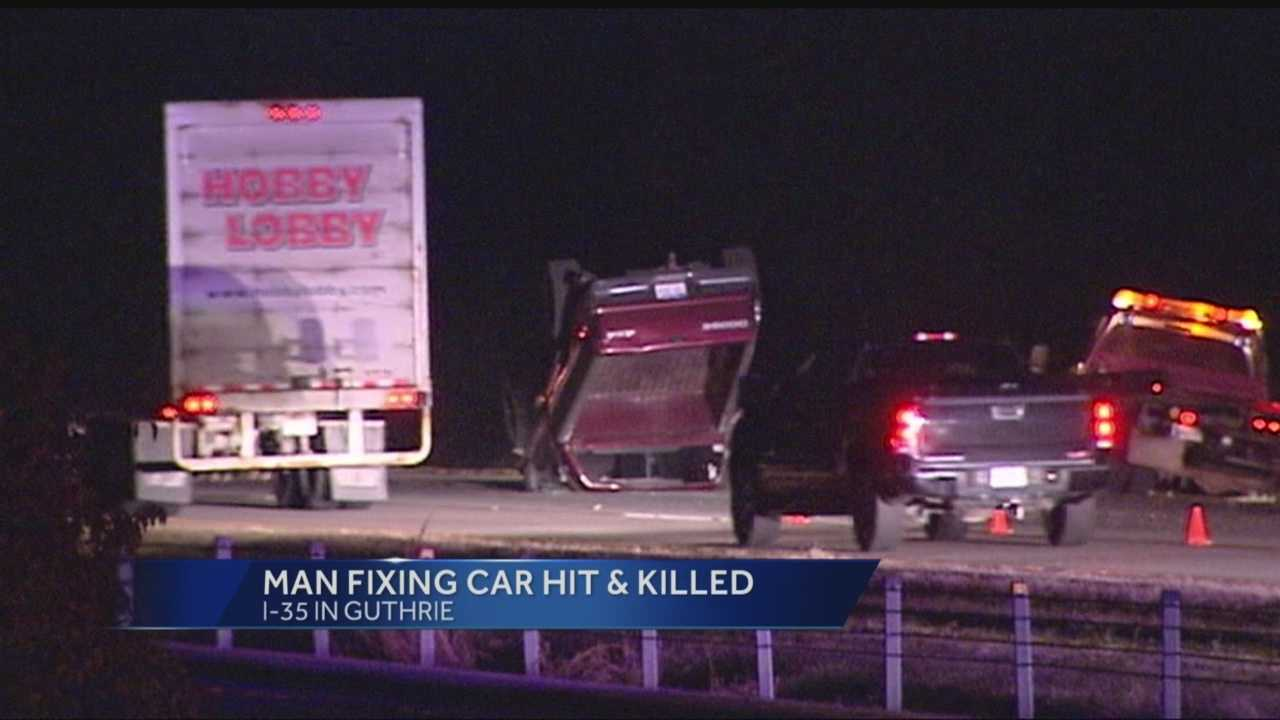 img-Man fixing car on I-35 hit killed