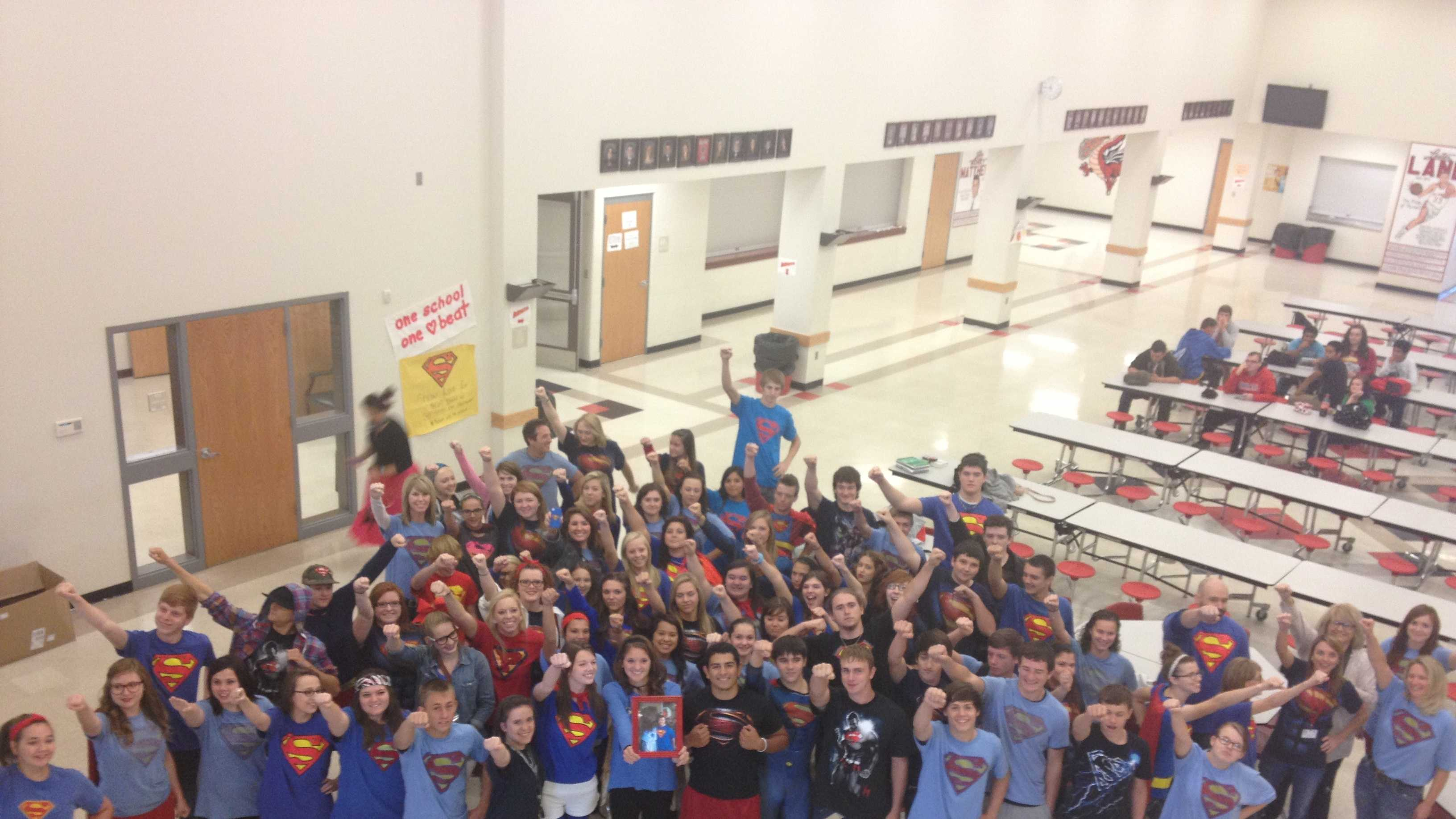 Purcell High School shows strength for student diagnosed with lukemia