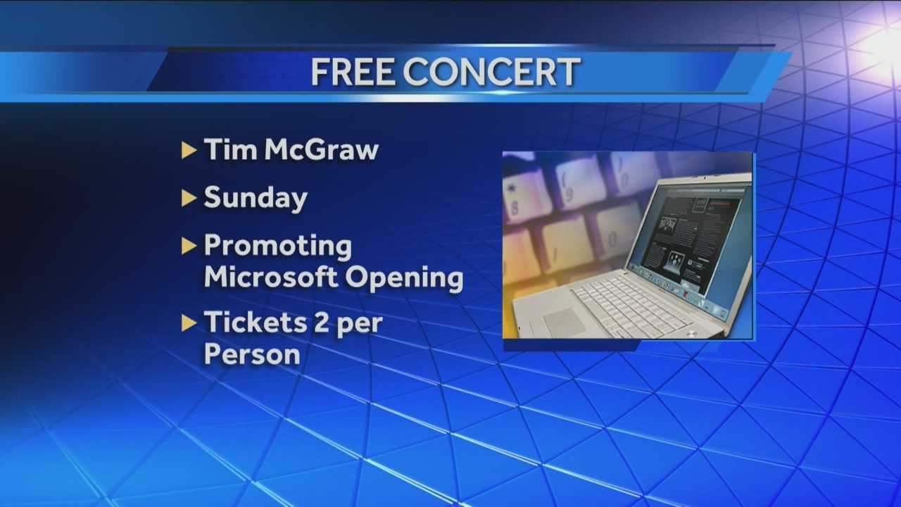 img-Microsoft s OKC grand opening featuring Tim McGraw show