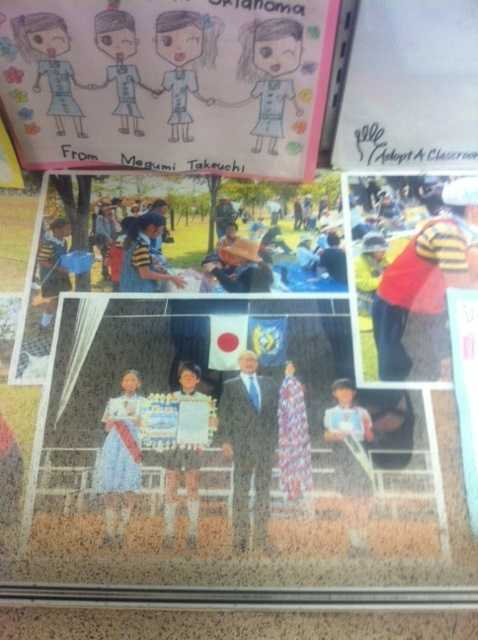 Children from Japan who were effected by the Tsunami sent cards to Moore students