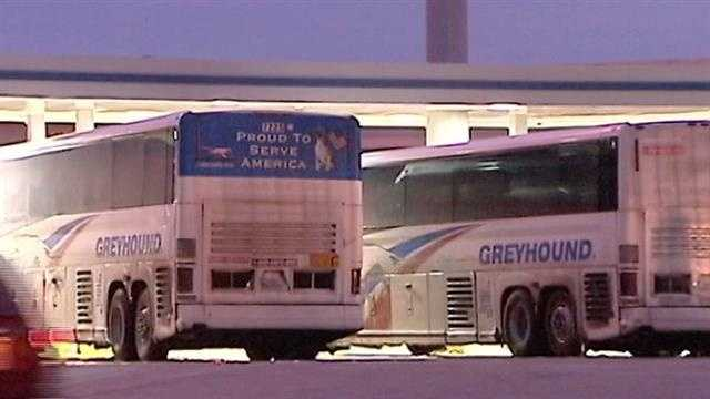 Slick roads mean some Greyhound routes were canceled.