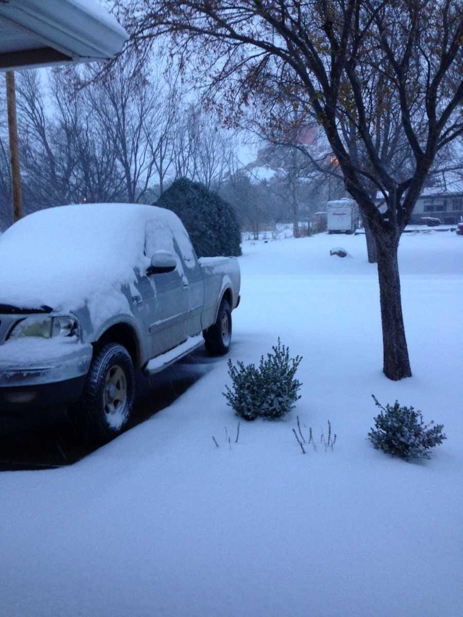 Snow in Snyder - Photo by John Hesch