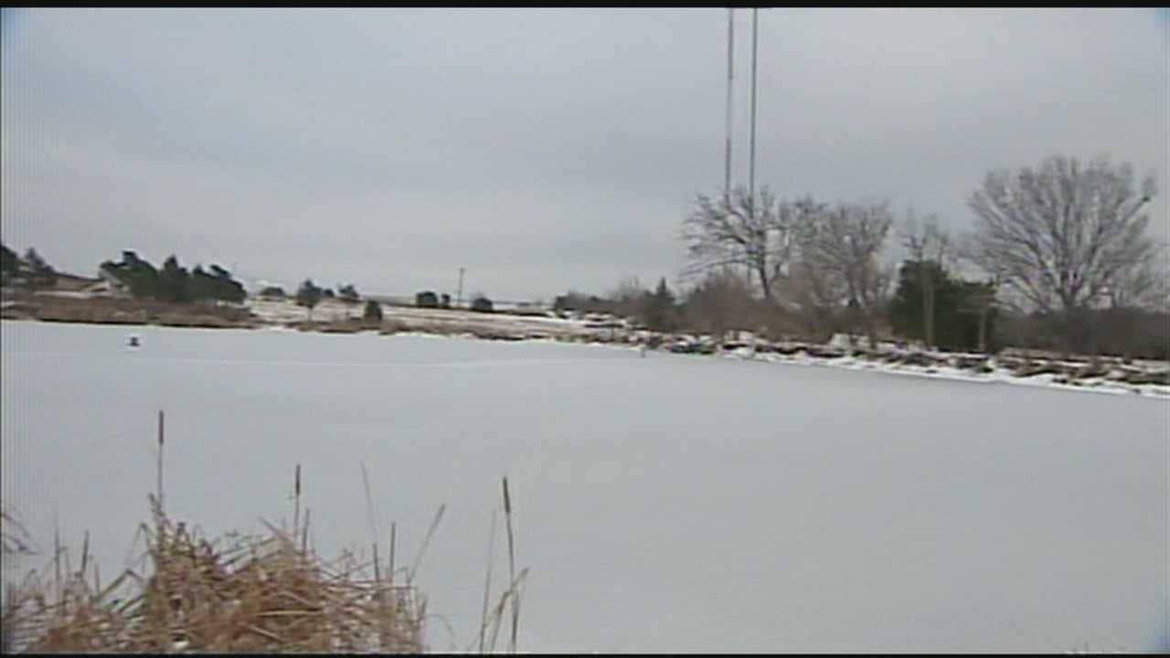 Oklahoma City fire crews working to warn people about the danger of walking on ice.