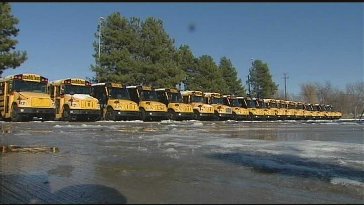 Maintenance workers are preparing for kids to get back on the bus and back to class on Wednesday.