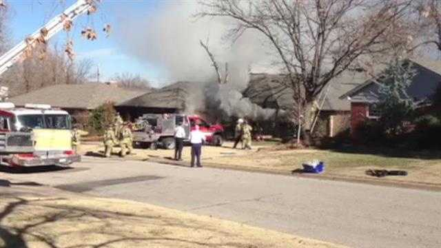Crews responded to the scene of a house fire Monday afternoon in the 11400 block of North Miller Avenue.