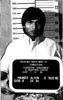 NAME: MAINES, ALVINRACE: ISEX: MaleDOB: 24-SEP-1961HEIGHT: 5 FT. 8 IN.WEIGHT: 165 LBS.HAIR: BlackEYES: BrownCOMMENTS: NONE