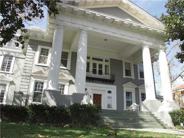 This neo-classical home was built in 1907 and is considered on of the premier homes in Oklahoma. It has five bedrooms and 7 1/2 baths spread over 9,400 square feet. It's loaded with antiques, but has been updated in recent years. For more information on this property, click here.