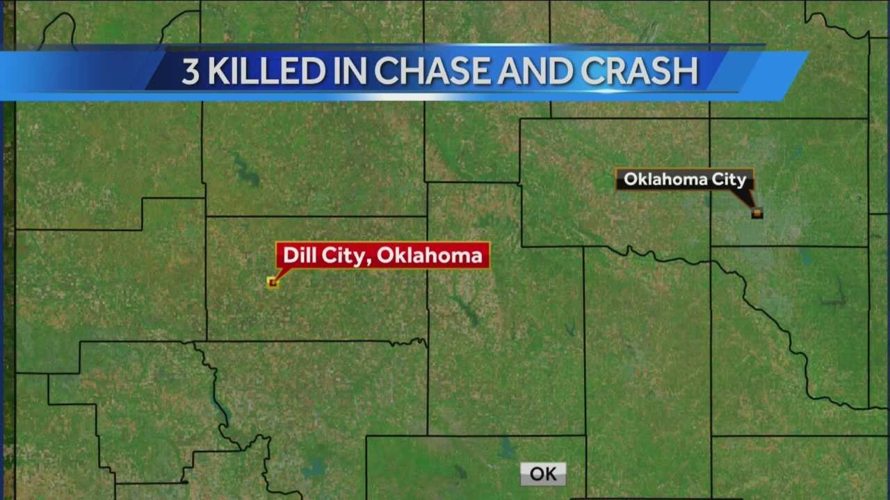 Two law enforcement officials and a suspect were killed during a high-speed chase in Washita County just south of Dill City on Thursday.