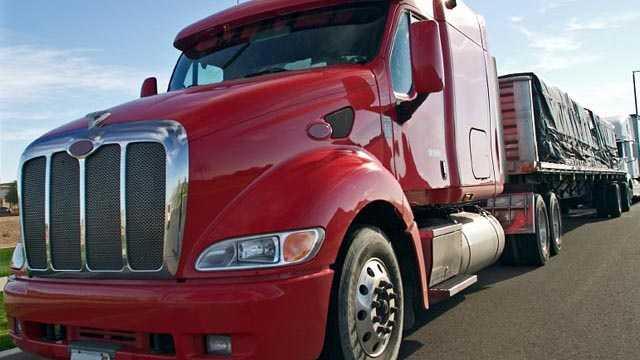 Semi truck big rig