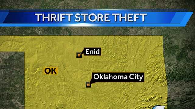 More than $3,000 stolen from Enid thrift store