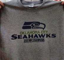 When the Mustang Brewing Company tweeted out this photo of an Oklahoma City Seahawks NFC champions shirt, Seattle fans on Twitter were not happy. Click through the gallery to see Twitter users' reactions to the Tweet.