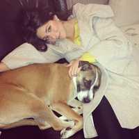 Weekend anchor Erielle Reshef and her dog Izador.