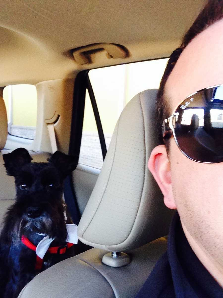 Assistant News Director Patrick Spencer's dog Jake.