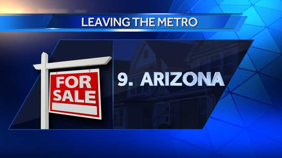 Since 2007, 408 people have left the metro for Pinal County, Ariz., which is just south of the Phoenix metro. Overall, 609 people have left for Arizona since 2007.