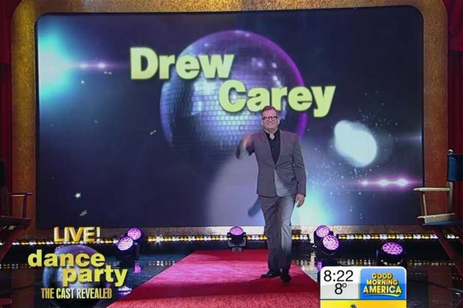 """Drew Carey.A stand-up comedian and actor, known for long-running shows, """"The Drew Carey Show"""" and """"Whose Line Is It Anyway?"""" went on to host """"The Price Is Right,"""" and brings his humor to the ballroom this season.Pro Partner: Cheryl Burke"""