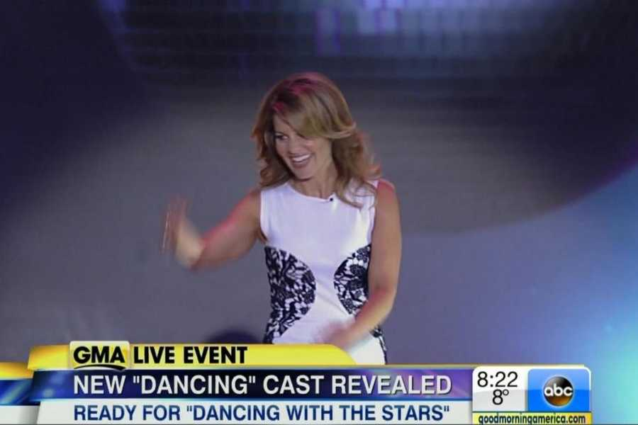 """Former Full House star Candace Cameron Bure.She played D.J. Tanner on the hit '90s series """"Full House."""" She is also a New York Times best-selling author and mom of three.Pro Partner: Mark Ballas"""
