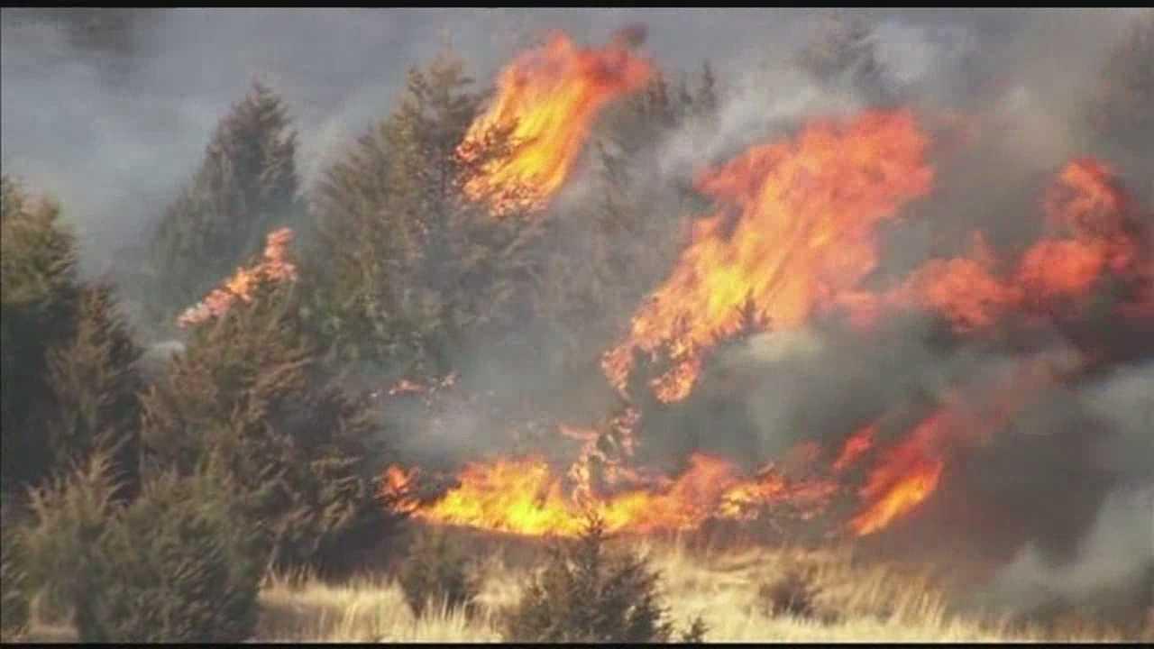 Wildfire burns hundreds of acres&#x3B; no homes damaged