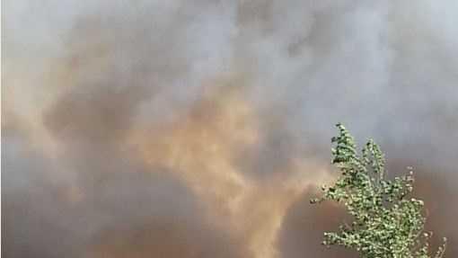 Firefighters battle blaze in Guthrie