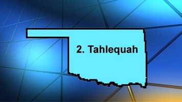 Second place went to Tahlequah. The site referenced the community's active lifestyle and nightlife as high-ranking categories.