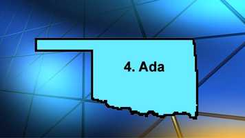 Ada may not be a food Mecca, but is a great center for music. It ranked 4th on Movoto's most exciting places in Oklahoma.