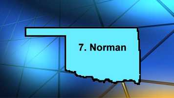 A thriving nightlife in Norman helped it elevate its spot in the rankings, according to Movoto. It ranked 7th overall.