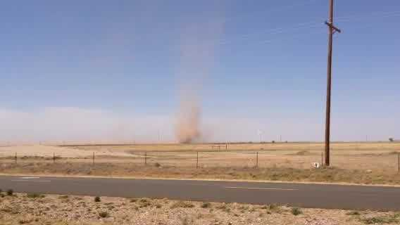 Oklahoma City resident Robert Oglesby shot this dust devil video near Tucumcari, NM last week.