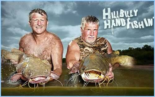 Hillbilly Handfishin' aired on Animal Planet from 2011-2012. The reality series followed sport fisherman who were noodling, or fishing for catfish using only their bare hands or feet. The noodling-exhibition company featured in the show is based in Temple, Oklahoma.
