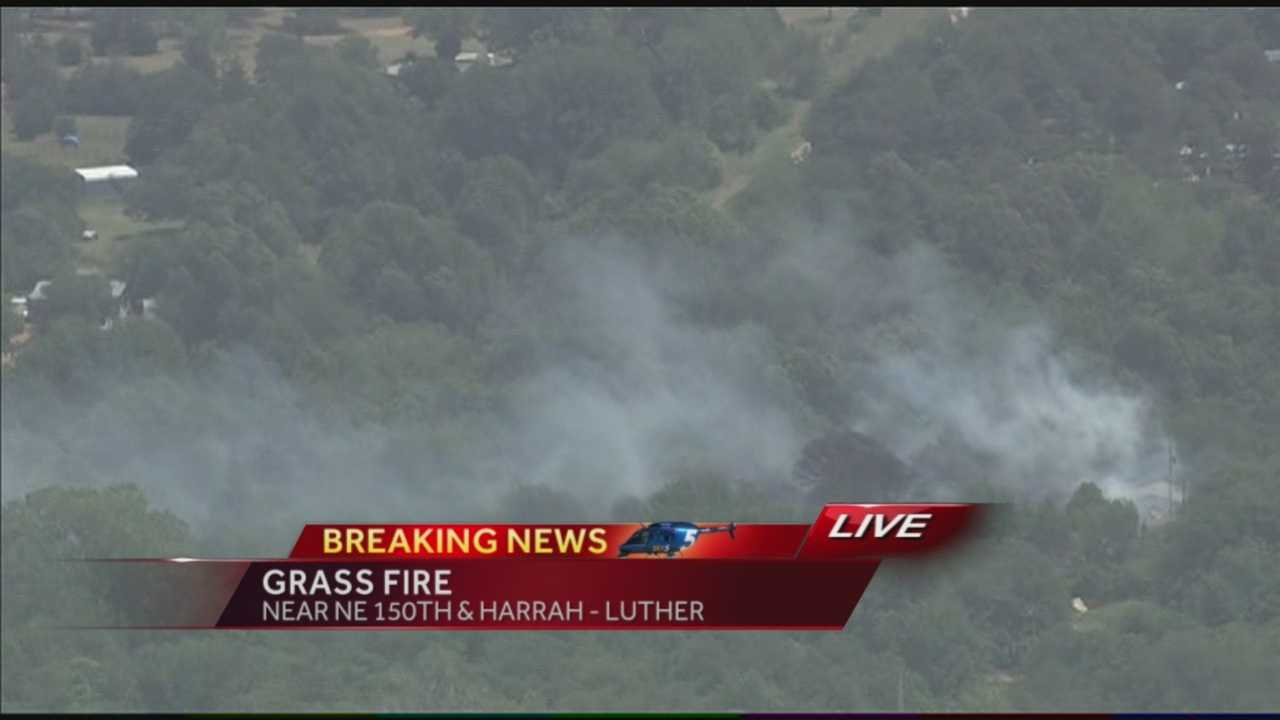Firefighters were called to a Luther grass fire Tuesday afternoon.