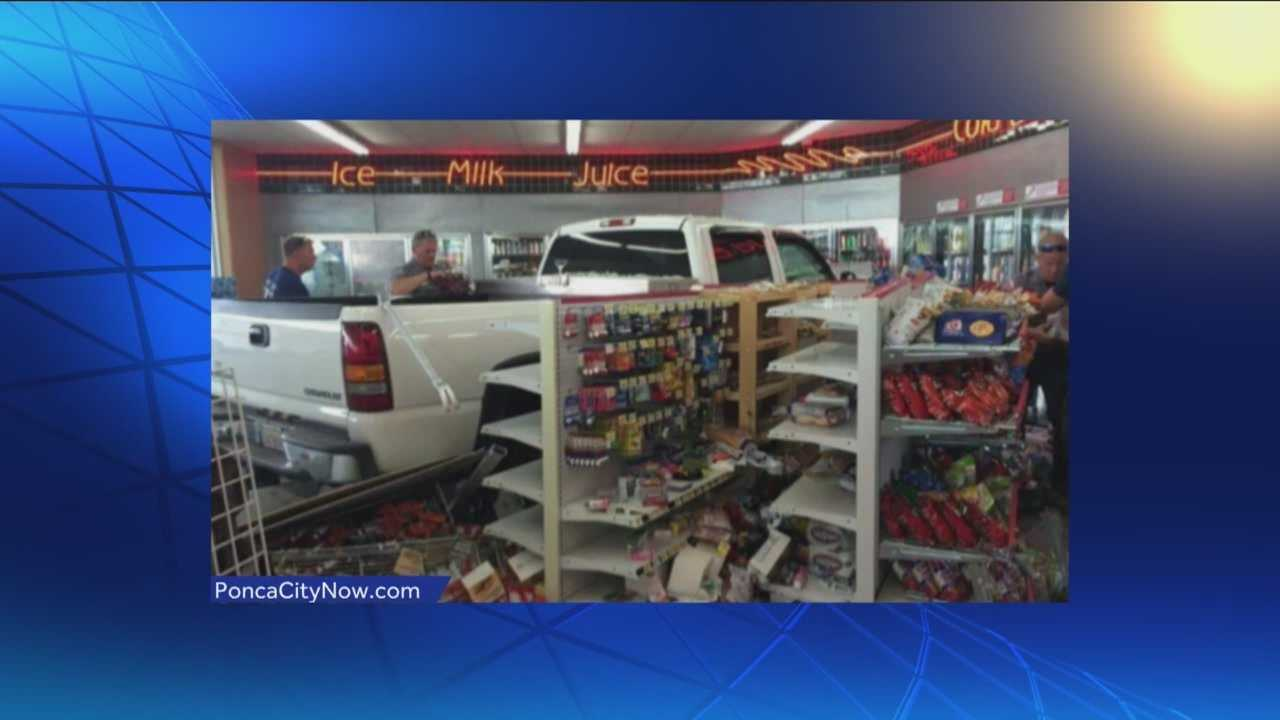 A woman drove a truck into a convenience store in Ponca City for the second time in as many years.