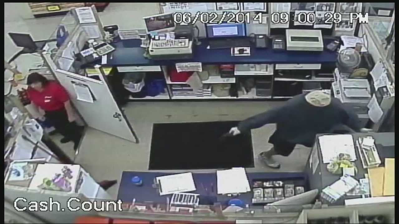 A robbery of a Choctaw grocery store is all caught on tape.