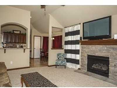 This home has 2 living and 2 dining with a stone fireplace. Gorgeous window and french door access to study. Formal dining and breakfast nook. Jetted tub, separate shower and double vanity in Master Bath. See the listing.