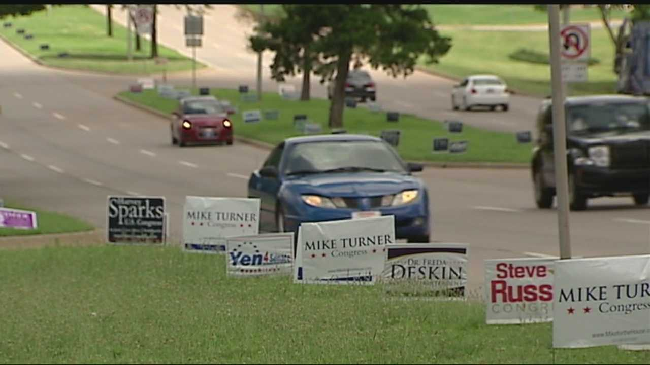 Campaign officials say signs are popping everywhere ahead of tomorrow's election.