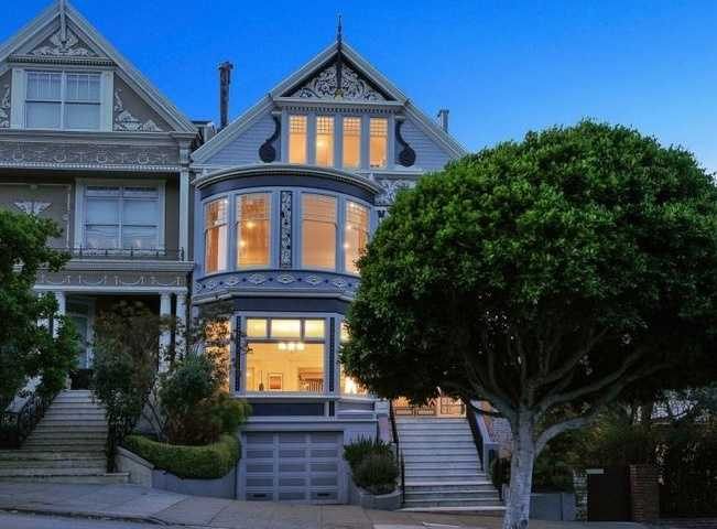 San Francisco mansions don't get much more classic than this 1889 Queen Anne Victorian. It's so classic that it's been used in Pottery Barn and Design Within Reach catalogs, according to the listing. And Hollywood's all-American couple Meg Ryan and Dennis Quaid bought it as newlyweds in 1991&#x3B; their son, Jack, was born nine months later. (They divorced in 2000.)