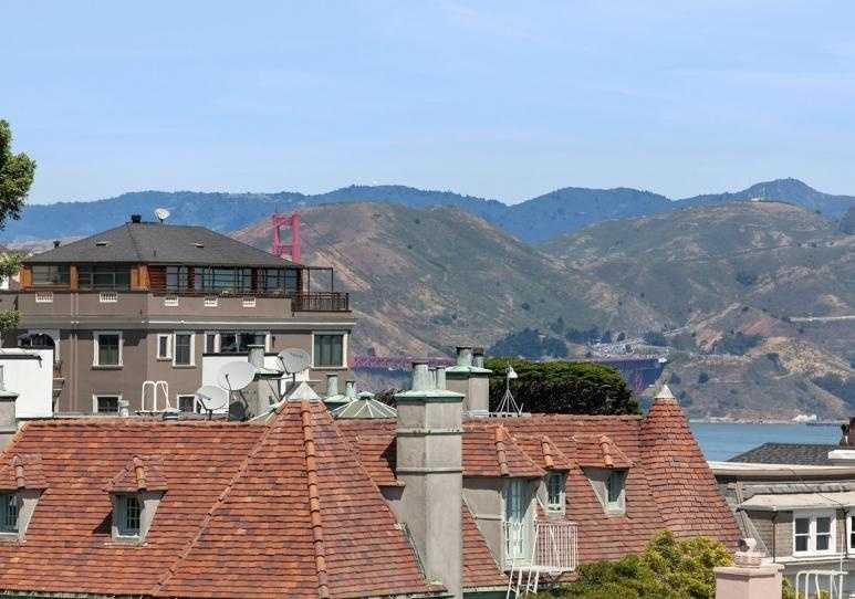 You can even glimpse the Golden Gate Bridge from some parts of the home.