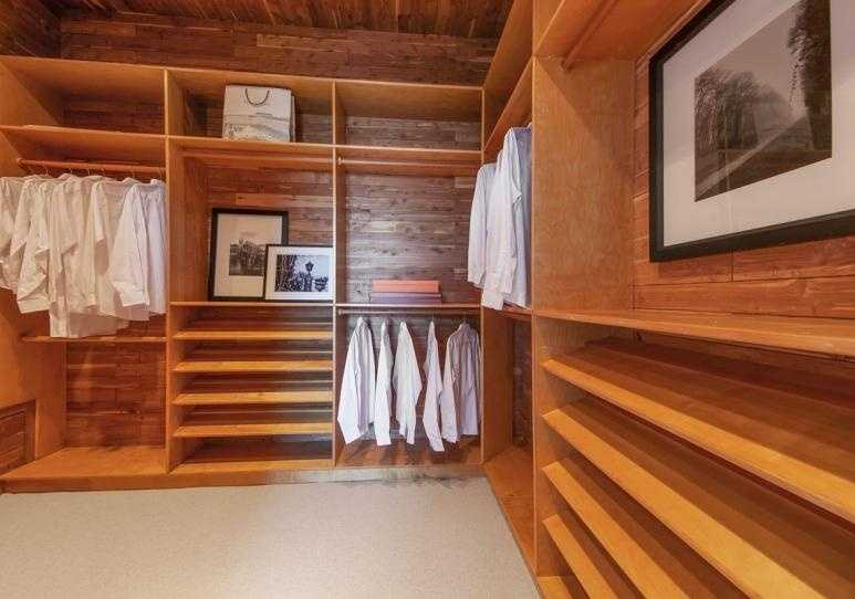 The master suite also has a walk-in closet.