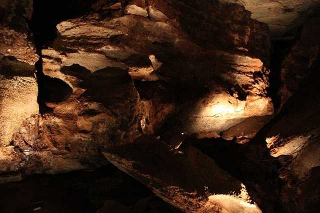 Located in Freedom, the Alabaster Caverns State Park is a cavern that is made out of alabaster, a rare form of gypsum. This is the largest natural gypsum cave in the world that is open to the public.